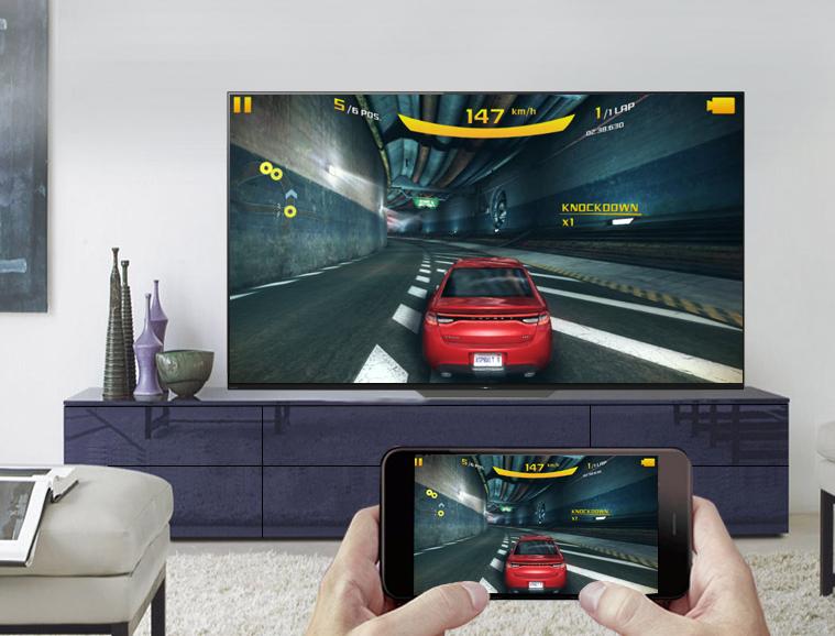 Chiếu màn hình điện thoại lên Android Tivi OLED Sony 4K 65 inch KD-65A8F