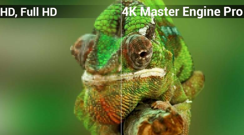 Android Tivi Sharp 4K 50 inch LC-50UA6800X - bộ xử lý 4K Master Engine Pro