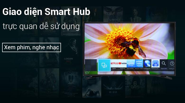 Giao diện Samsung Smart Hub dễ sử dụng Smart Tivi Samsung 32 inch UA32N4300