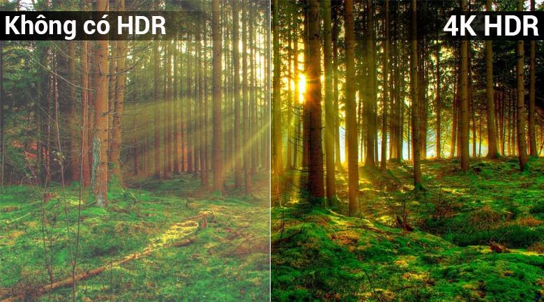 Công nghệ 4K HDR trên Smart Tivi 4K Sony 65 inch KD-65X7000F
