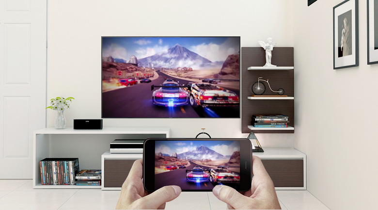 công nghệ Screen Mirroring trên Smart Tivi QLED Samsung 4K 65 inch QA65Q9FN