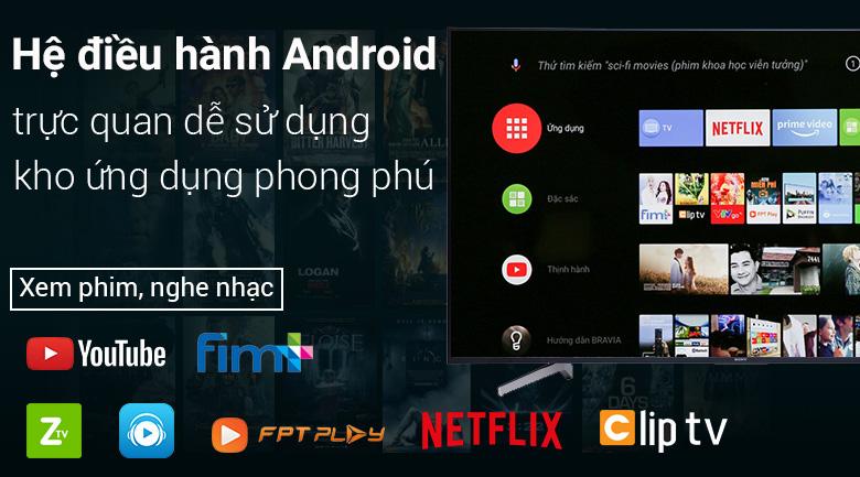 Android Tivi Sony 4K 60 inch KD-60X8300F - Hệ điều hành Android 8.0