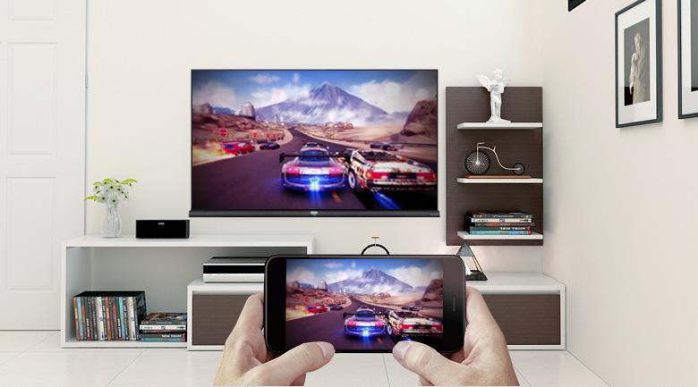 Công nghệ Screen Mirroring trên Android Tivi TCL 4K 49 inch L49C6-UF