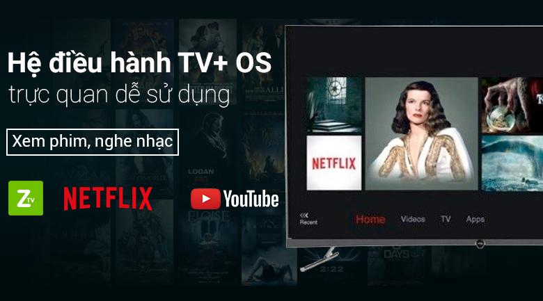 Hệ điều hành TV+ OS trên Smart Tivi Cong TCL 4K 55 inch L55P5-UC