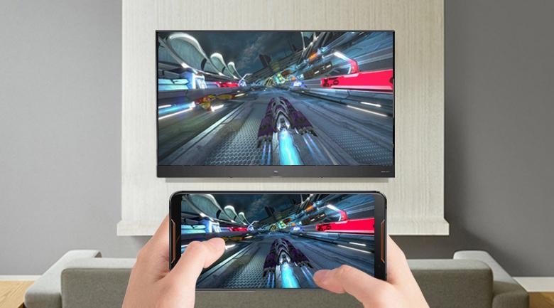 Chiếu màn hình điện thoại lên Android Tivi QLED TCL 65 inch L65X4