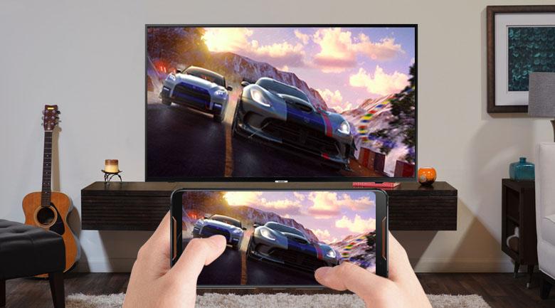 Công nghệ Screen Mirroring trên Smart Tivi Samsung 4K 43 inch UA43NU7090