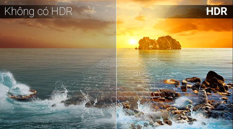 Công nghệ HDR trên Smart Tivi Samsung 4K 50 inch UA50NU7090