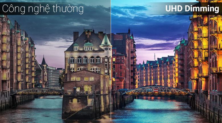 Công nghệ UHD Dimming trên Smart Tivi Samsung 4K 55 inch UA55NU7090