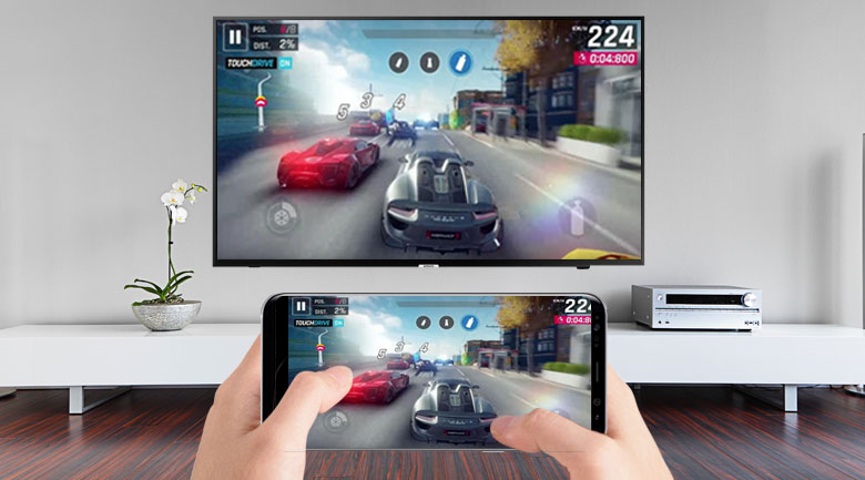 Chiếu màn hình bằng Miracast (Screen Mirroring) trên trên Smart Tivi Samsung 4K 65 inch UA65NU7090