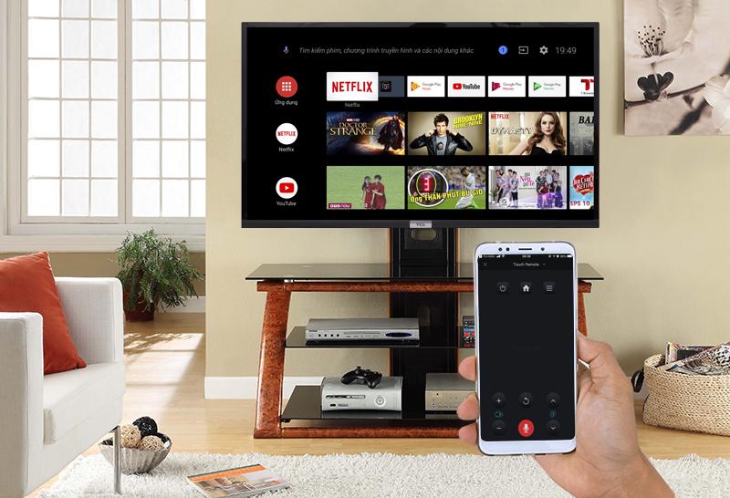 Điều khiển Android Tivi TCL 32 inch 32S6500 bằng điện thoại với ứng dụng T-Cast