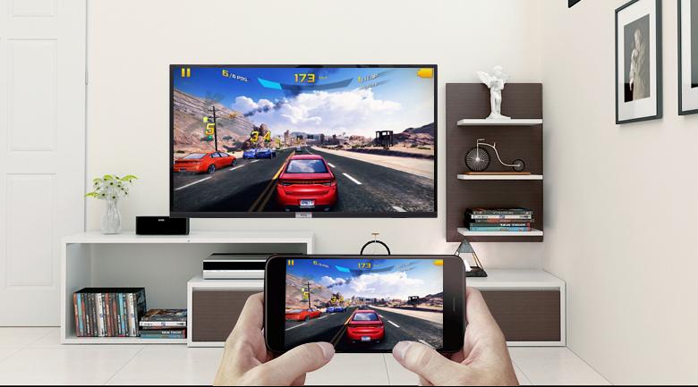 Chiếu màn hình điện thoại lên Android Tivi TCL 32 inch 32S6500