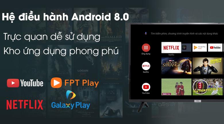 Hệ điều hành Android 8.0 - Tivi LED TCL L40S6500