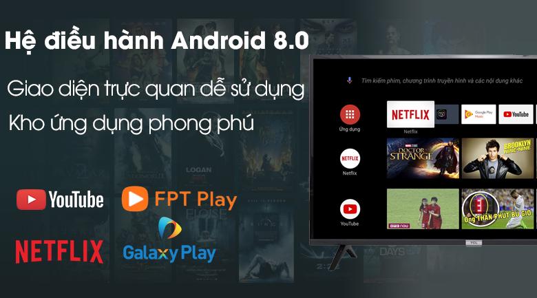 Hệ điều hành Android 8.0 - Tivi LED TCL L43S6500