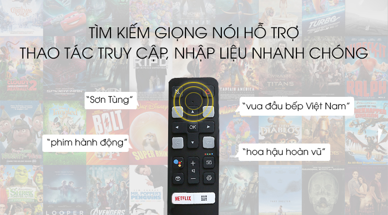 Android Tivi TCL 43 inch L43S6500 - remote thông minh