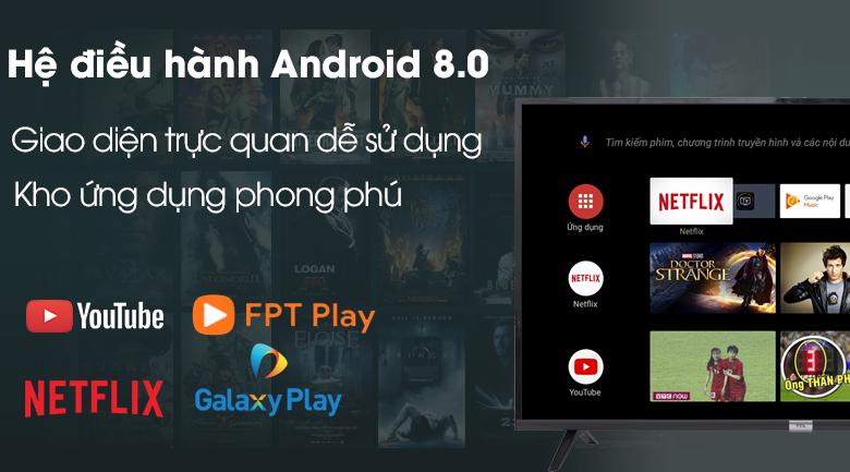 Hệ điều hành Android 8.0 - Tivi LED TCL L49S6500