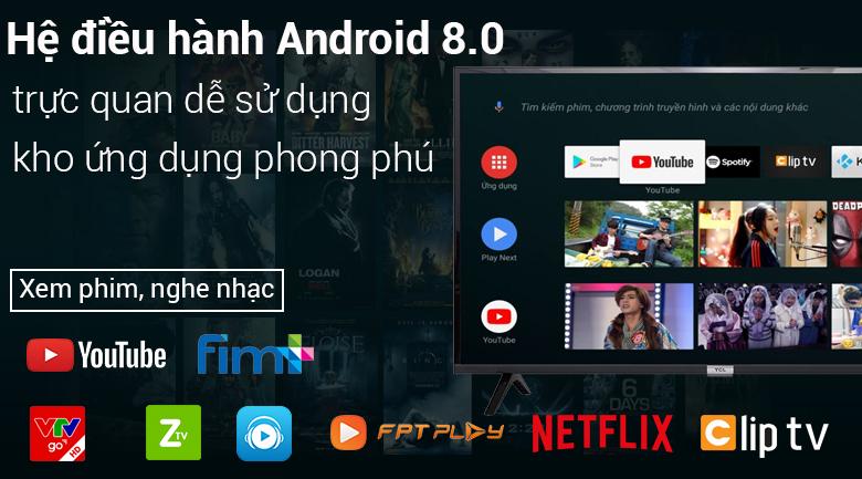Hệ điều hành Android 8.0 trên Android Tivi TCL 49 inch 49S6500