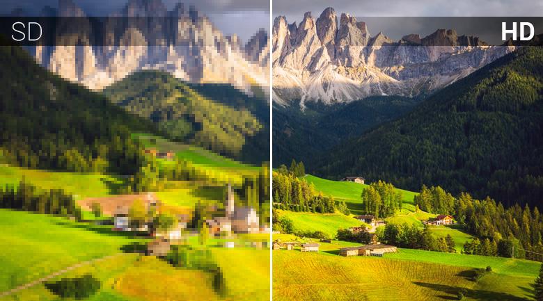 Chất lượng hình ảnh HD trên Smart Tivi Mobell 32 inch 32W600A
