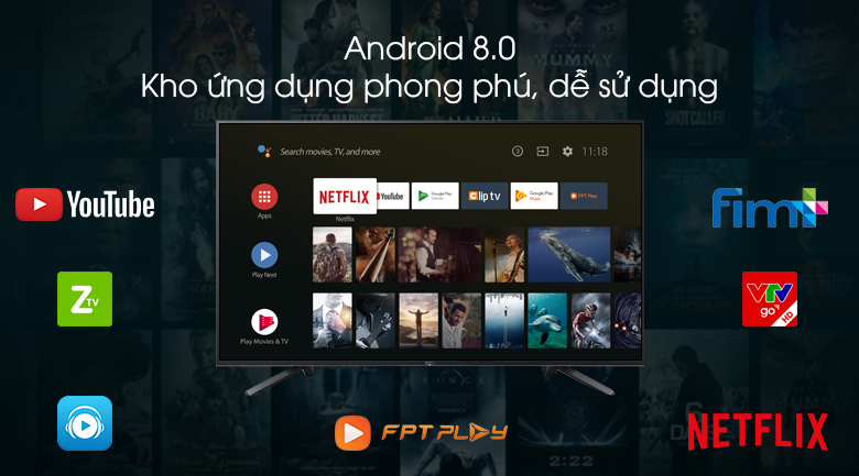 Android Tivi Sony 4K 75 inch KD-75Z9F - Android 8.0