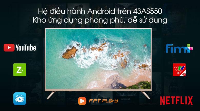 Hệ điều hành Android Smart tivi Asanzo 43AS550