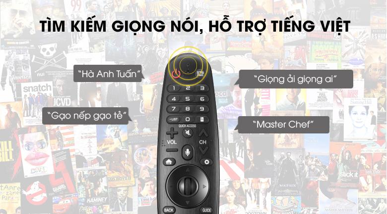 Tìm kiếm giọng nói bằng tiếng Việt - Smart Tivi LG 4K 43 inch 43UK6200PTA