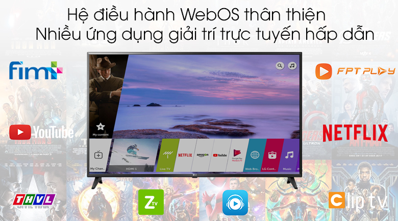 WebOS - Smart Tivi LG 4K 43 inch 43UK6200PTA