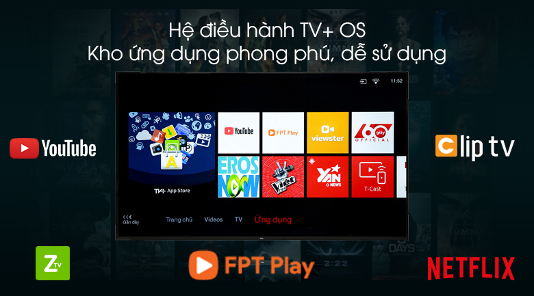 TV+OS - Smart Tivi TCL 4K 55 inch L55P65-UF