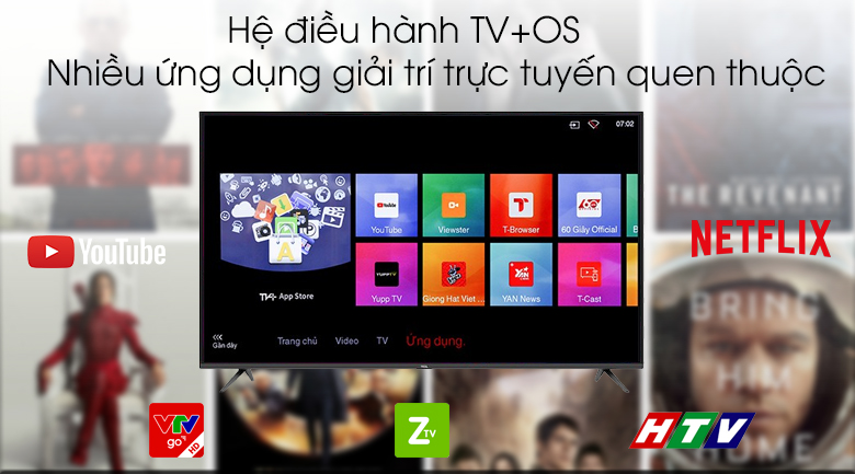 TV+OS - Smart Tivi TCL 4K 55 inch L55P65-UF