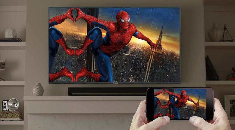 Chiếu màn hình điện thoại - Android Tivi Panasonic 4K 49 inch 49FX650V