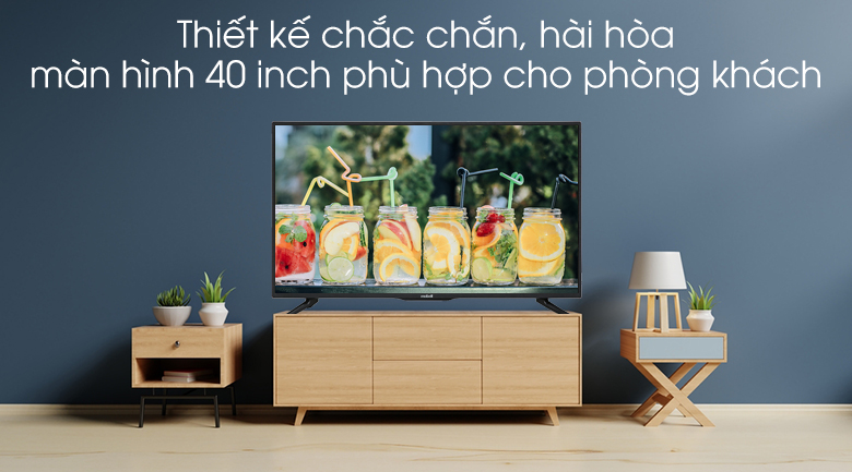 Smart Tivi Mobell 40 inch 40S600A - Thiết kế