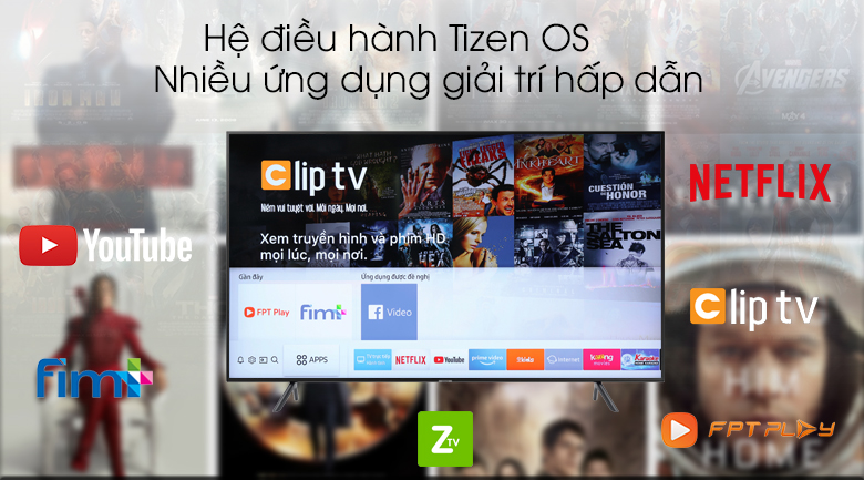 Smart Tivi Samsung 4K 43 inch UA43RU7100 - Tizen OS