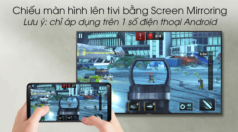 Smart Tivi Samsung 4K 55 inch UA55RU7100 - Screen Mirroring
