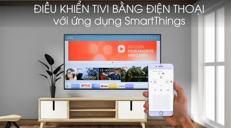 Smart Tivi Samsung 4K 50 inch UA50RU7200 - SmartThings