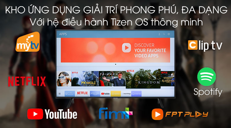 Smart Tivi Samsung 4K 50 inch UA50RU7200 Tizen OS