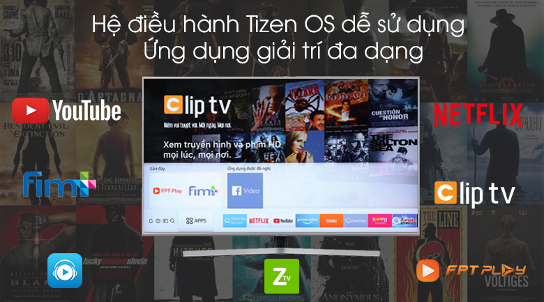Smart Tivi Samsung 4K 55 inch UA55RU7400 - Tizen OS