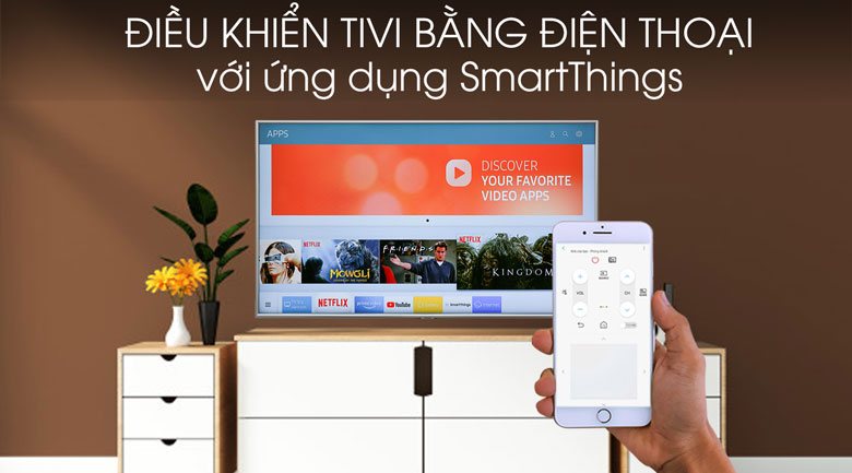 Smart Tivi Samsung 4K 55 inch UA55RU7400 - SmartThings
