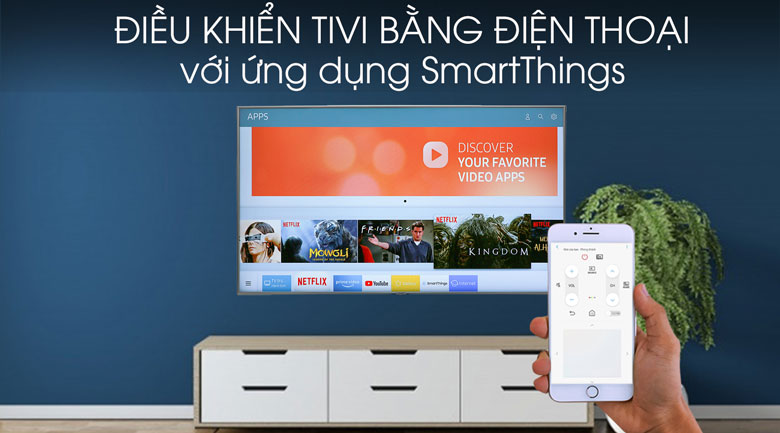 Smart Tivi Samsung 4K 65 inch UA65RU7400 - SmartThings