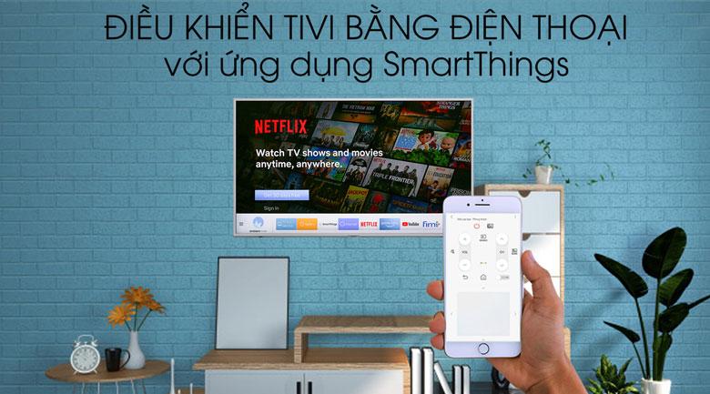 Smart Tivi QLED Samsung 4K 43 inch QA43Q65R - Điều khiển tivi