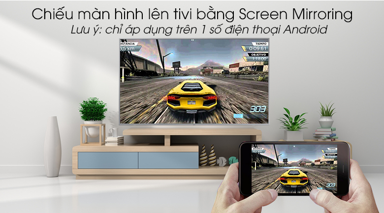 Smart Tivi QLED Samsung 4K 49 inch QA49Q65R - chiếu màn hình