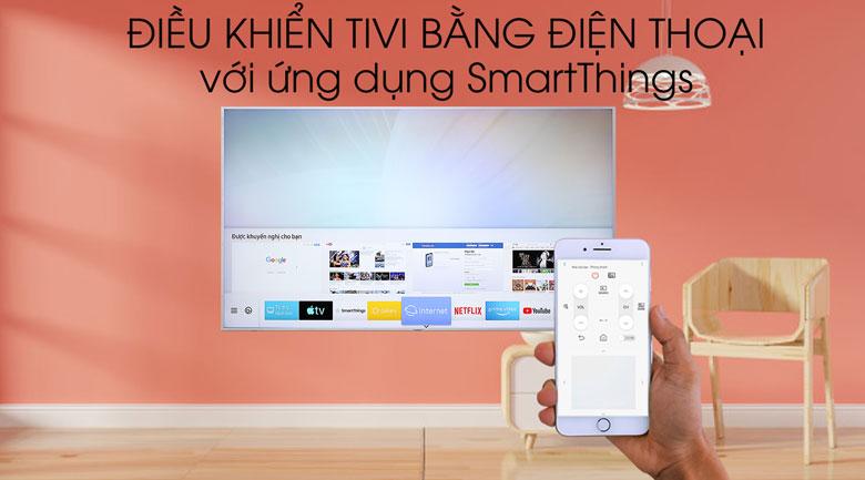 Smart Tivi QLED Samsung 4K 75 inch QA75Q65R - điều khiển tivi