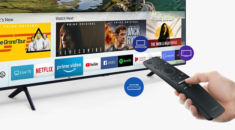 Smart Tivi QLED Samsung 4K 82 inch QA82Q65R - One remote