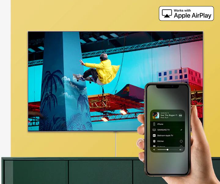 Smart Tivi QLED Samsung 4K 82 inch QA82Q65R - chiếu màn hình