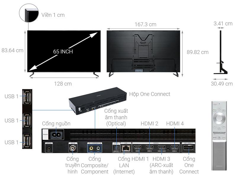 Thông số kỹ thuật Smart Tivi QLED Samsung 8K 65 inch QA65Q900R