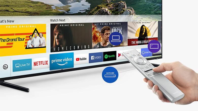 Smart Tivi QLED Samsung 8K 65 inch QA65Q900R - one remote