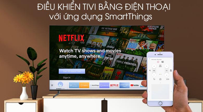 Smart Tivi QLED Samsung 8K 65 inch QA65Q900R - điều khiển điện thoại