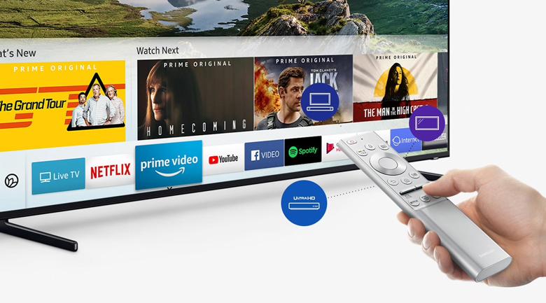Smart Tivi QLED Samsung 8K 75 inch QA75Q900R - One Remote