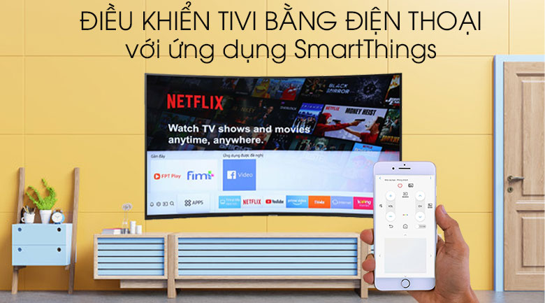 Smart tivi Samsung 4K 49 inch UA49RU7300 - SmartThings