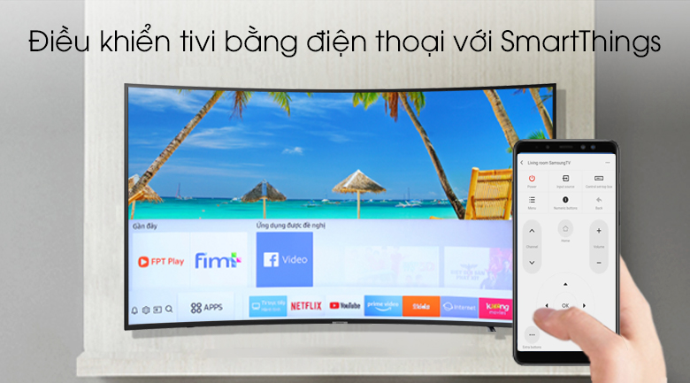 Smart tivi Samsung 4K 55 inch UA55RU7300 - SmartThings