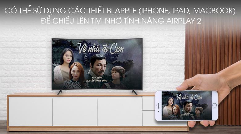 Smart Tivi Samsung 4K 55 inch UA55RU7300 - chiếu màn hình điện thoại iOS lên tivi