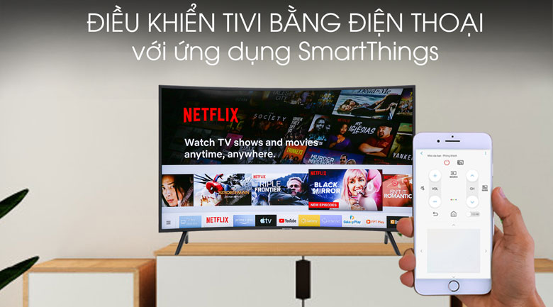 Smart tivi Samsung 4K 55 inch UA55RU7300 - SmartThings
