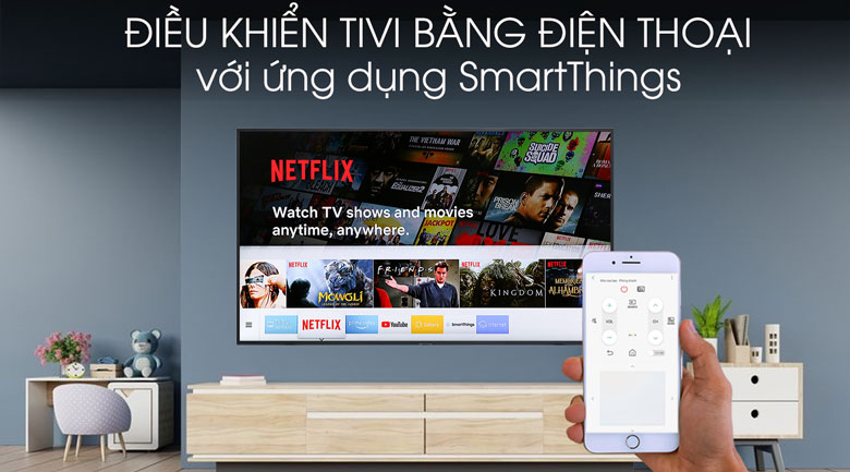 Smart tivi Samsung 4K 55 inch UA55RU8000 - SmartThings